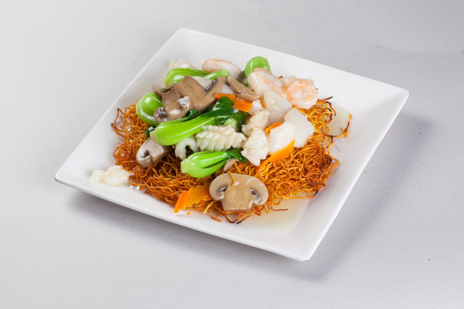Seafood Pan Fried Noodle